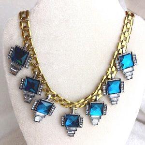 Jewelry - TURQUOISE ART DECO NECKLACE